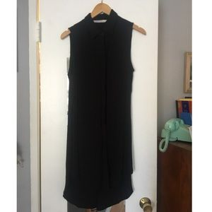 Zara Long Chiffon Sleeveless Button-Up